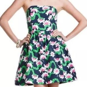 Lilly Pulitzer Catepillar Strapless Dress Size 10